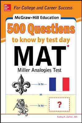 500 Mat Questions to Know by Test Day By Zahier, Kathy